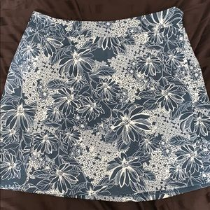 Navy and white floral mini skirt from Abercrombie!